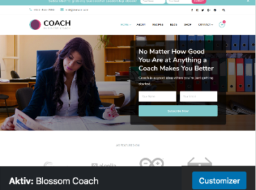 Theme Blossom Coach aktiviert